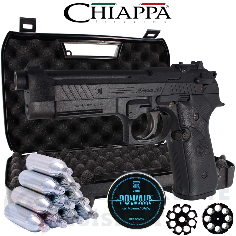 Pack Pistolet Chiappa AG92 CO2 4.5mm