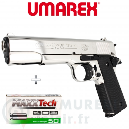 Pistolet Colt 1911 A1 9mm PAK Polished Chrome
