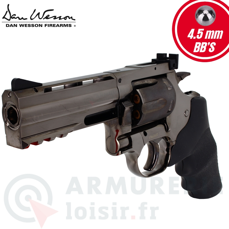 Revolver Dan Wesson 715 4 pouces steel grey CO2 4,5 (2.1 joules)
