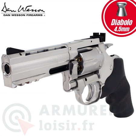 "Revolver Dan Wesson 715 4""  silver 4,5mm CO2..."