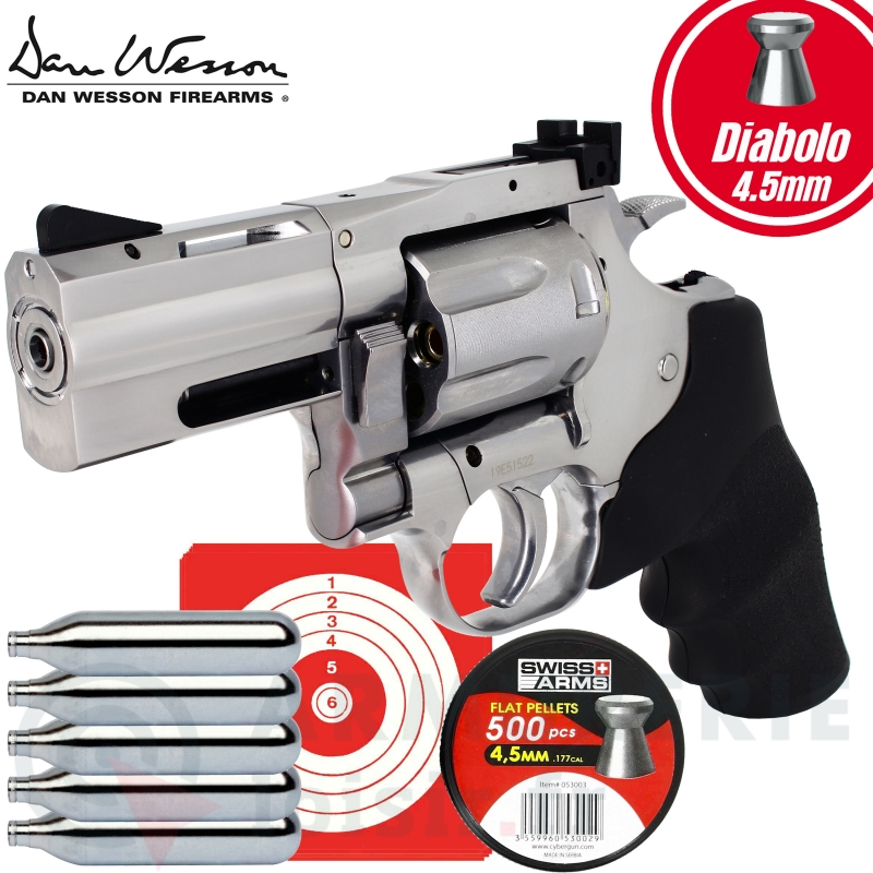 Revolver Dan Wesson 715 2.5'' CO2 Plombs diabolo 4.5mm  (2.5 Joules)