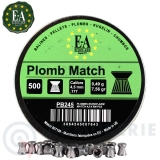 500 Plombs plats Europarm Match 4.5mm 7.56gr