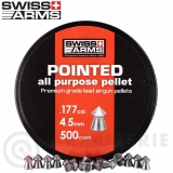 500 Plombs pointus Swiss Arms 4,5mm .177