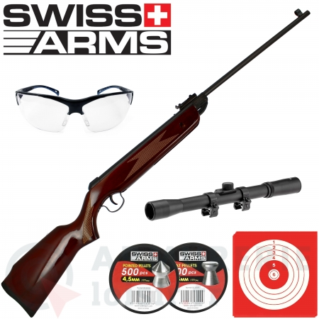 Pack carabine Swiss Arms Orna 4.5 mm (7.5 joules)