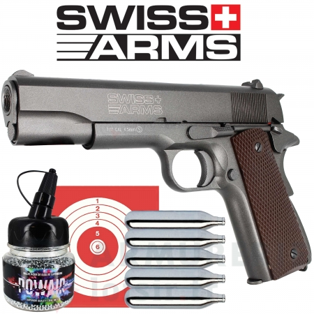 Pistolet Swiss Arms P1911 Blowback 4.5mm (1.7 Joules)