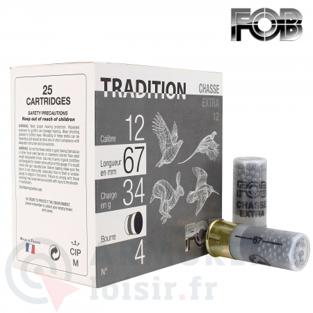 Cartouches Tradition 12/67 34g
