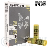 Munitions tradition 20/70 plombs 8 - 29 grammes