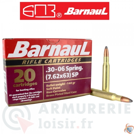 Barnaul 20 Munitions calibre 30-06 Spring (7,62x63)...