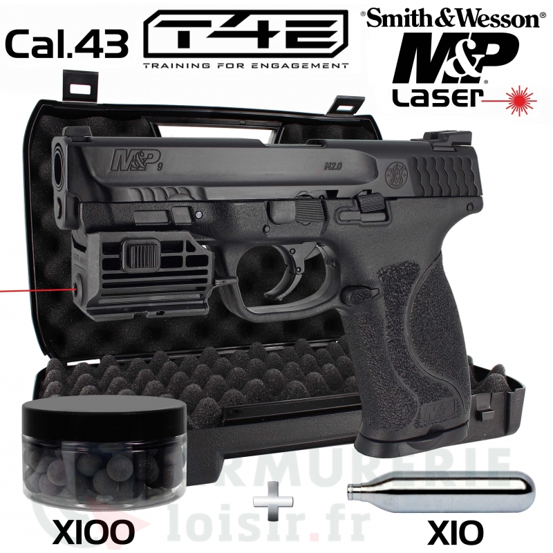Pack Smith & Wesson M&P9 Laser .43 (5 Joules)