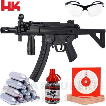 Pack HK Umarex MP5K-PDW CO2 4.5