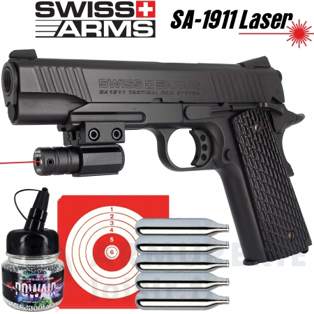 Pistolet CO2 SA1911 military Full Metal Laser (1.6...