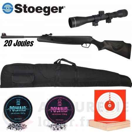 Pack Stoeger Mod.X20 synthétique 4.5 mm (20 joules)