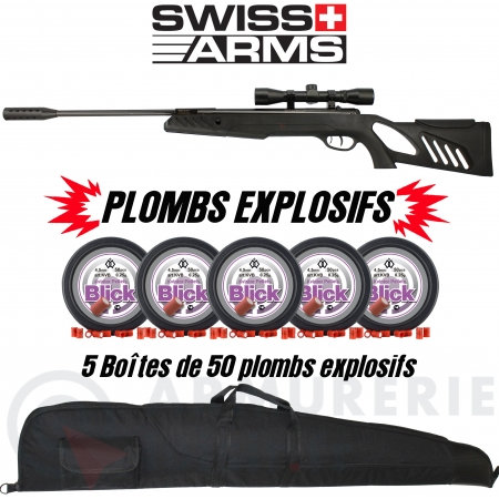 Pack Swiss Arms TAC-1 plombs explosifs (20 joules)