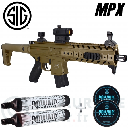 Carabine Sig MPX Tan CO2 88g 6.7 joules