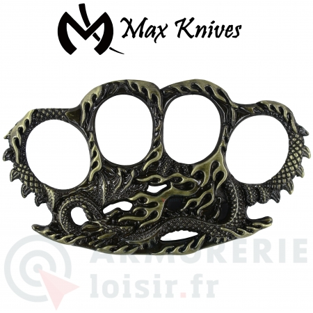Poing américain Max Knives serpent-dragon PA35