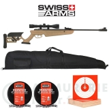 Pack carabine Swiss Arms TG-1 TAN 4.5mm - 4x40 (20 joules)