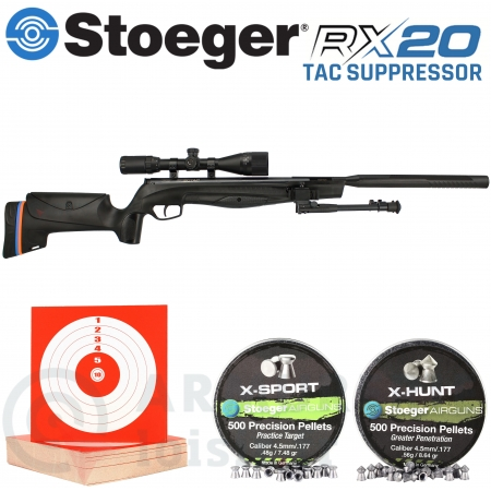 Pack Stoeger RX20 Tac Suppressor 4.5mm (20 Joules)